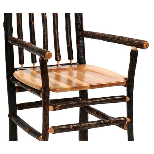 """Barstool with Arms - 30"""" high - Antique Oak seat"""