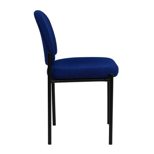 Gallery - Comfort Navy Fabric Stackable Steel Side Reception Chair