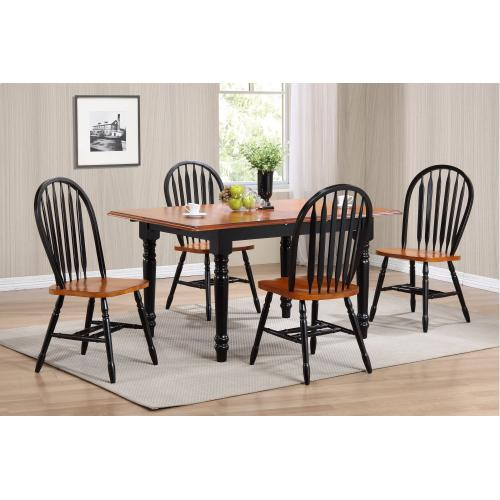 Butterfly Leaf Dining Set w/Arrowback Chairs (5 Piece)