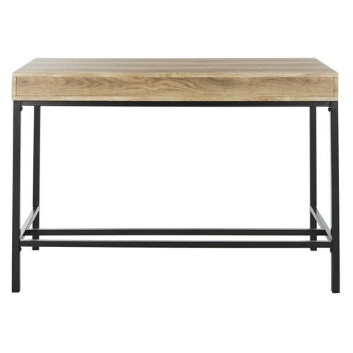 Patrick 2 Drawer Desk - Oak / Black
