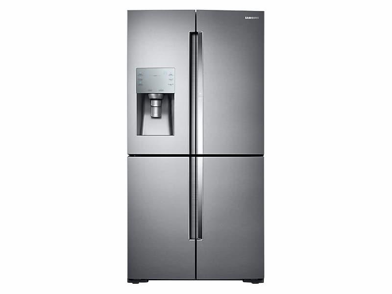 Samsung28 Cu. Ft. Food Showcase 4-Door Flex™ Refrigerator With Flexzone™ In Stainless Steel