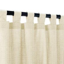 See Details - Sunbrella Linen Antique Beige Outdoor Curtain with Tabs