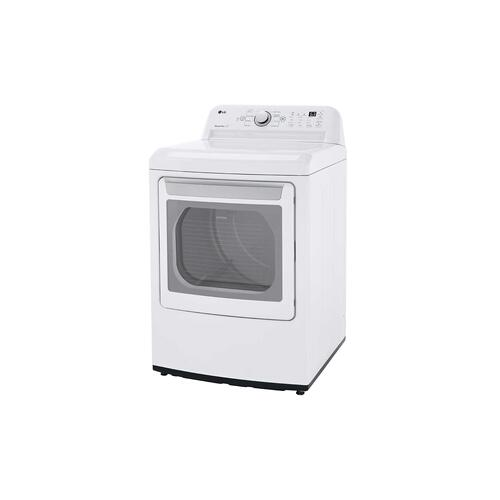 LG - 7.3 cu. ft. Ultra Large Capacity Electric Dryer with Sensor Dry Technology