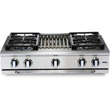 "36"" 4 Burner w/Griddle Gas Rangetop - LP"
