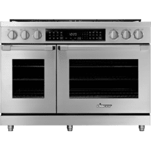 "48"" Dual Fuel Pro Range, Silver Stainless Steel, Liquid Propane/High Altitude"