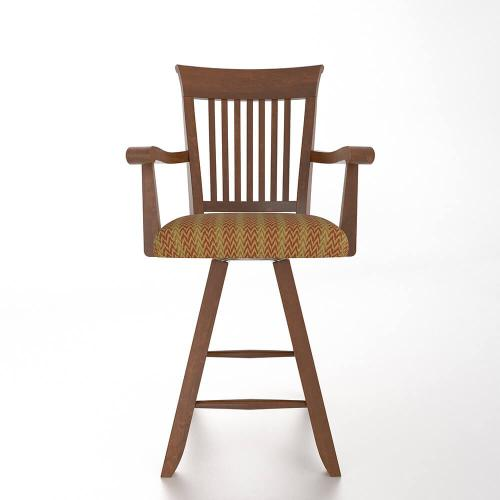 """Gallery - Swivel Barstool 24"""" with arms"""