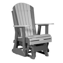 See Details - 2 Adirondack Glider Chair, Dove-gray-slate