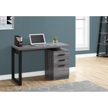 "COMPUTER DESK - 48""L / GREY-BLACK LEFT OR RIGHT FACING"