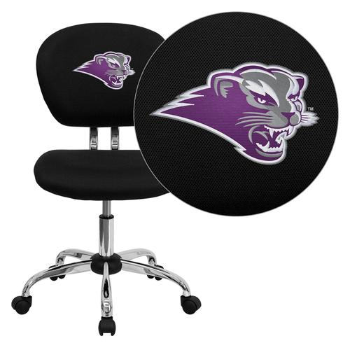 Southwest Baptist University Bearcats Embroidered Black Mesh Task Chair with Chrome Base
