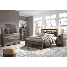 Derekson Queen LED Bookcase Bed With Storage Drawers