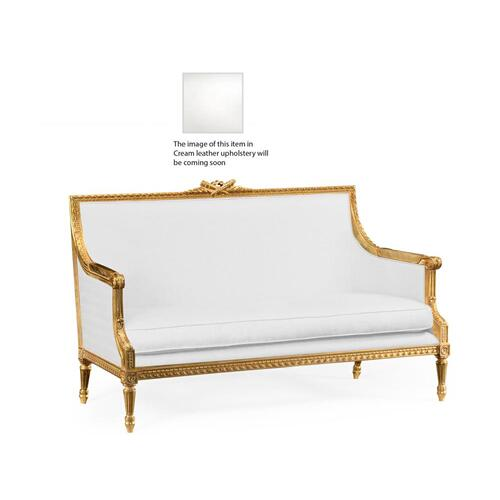2 seater sofa in cream leather