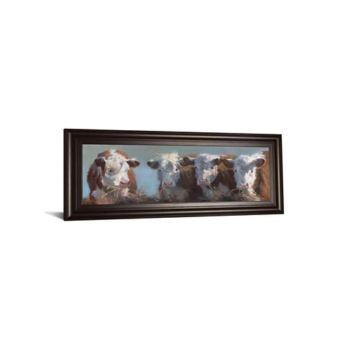 """Little Bull & The Babes"" By Carolyne Hawley Framed Print Wall Art"