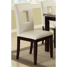 Atticus Dining Chair, White-with-cut-out