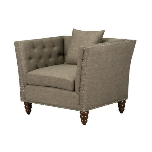 Gallery - Westerly Tufted Arm Chair, Pebble Grey