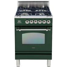 See Details - Nostalgie 24 Inch Gas Liquid Propane Freestanding Range in Emerald Green with Chrome Trim
