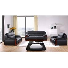 Divani Casa C83 Modern Black Bonded Leather Sofa Set
