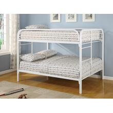 Full / Full Metal Bunk Bed (White)