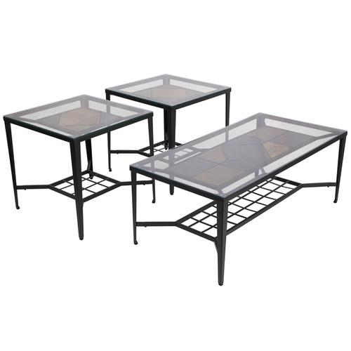 Signature Design by Ashley Calder 3 Piece Occasional Table Set [FSD-TS3-31DBZ-GG]