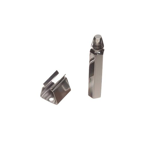 """Colonial Bronze - 3 1/4"""" Bullet & Clip Long Shutter Holder for Masonry Application, Product #103M"""