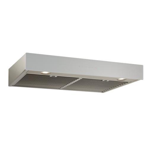 BEST Range Hoods - 36-inch Under-Cabinet Range Hood w/ PURLED™, ENERGY STAR, 550 Max Blower CFM, Brushed Grey Glass (UCB3 Series)