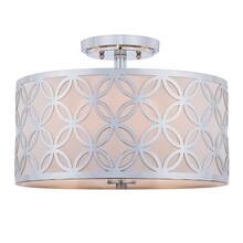 Cecily Leaf Trellis 3 Light 15-inch Dia Chrome Flush Mount - Chrome
