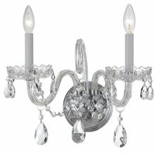 See Details - Traditional Crystal 2 Light Spectra Crystal Chrome Sconce
