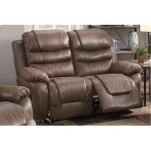 Livia Reclining/Motion Loveseat Sofa or Recliner, Dark Coffee Breathable Leatherette