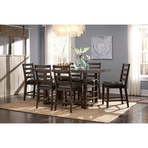 Standard Furniture - Summerlin 2-Pack Upholstered Counter Height Chairs, Dark Brown