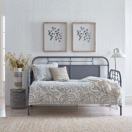 Liberty Furniture Industries - Twin Metal Day Bed - Grey