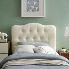 View Product - Annabel Twin Upholstered Fabric Headboard in Ivory