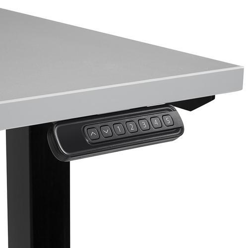 48x24 Single-motor Height Adjustable Table, Grey Top/black Base