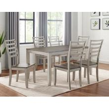 """See Details - STEVE SILVER 1-CU500-T 4-CU500-SC Abacus 5-Piece Dinette - Table And 4 Chairs - 48-60 inch Dining Table w/12"""" Butterfly Leaf"""