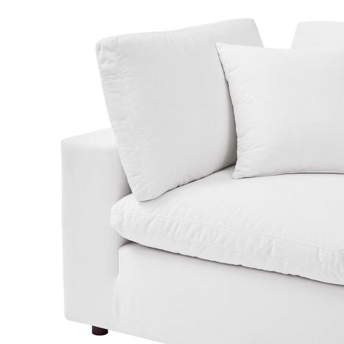 Modway - Commix Down Filled Overstuffed Performance Velvet Corner Chair in White