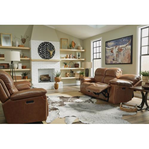 Fenwick Power Reclining Sofa with Power Headrests