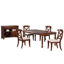 See Details - Butterfly Leaf Dining Set w/Server (6 Piece)