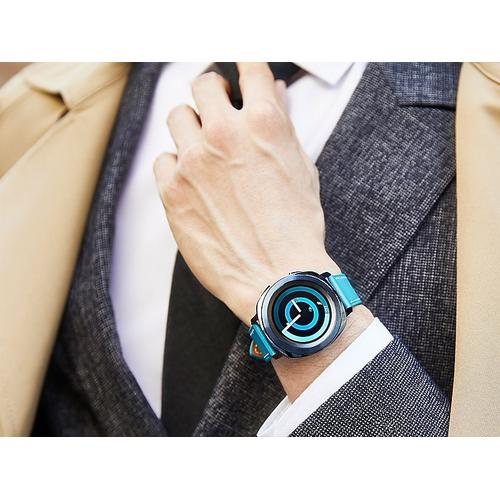 Gallery - Classic Leather Band for Galaxy Watch 42mm & Gear Sport, Blue