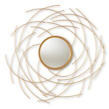 See Details - Baxton Studio Aelius Modern and Contemporary Gold Finished Accent Wall Mirror