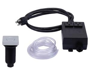 """Square """"Deluxe"""" Flush Waste Disposer Air Switch with Freedom Mount Product Image"""