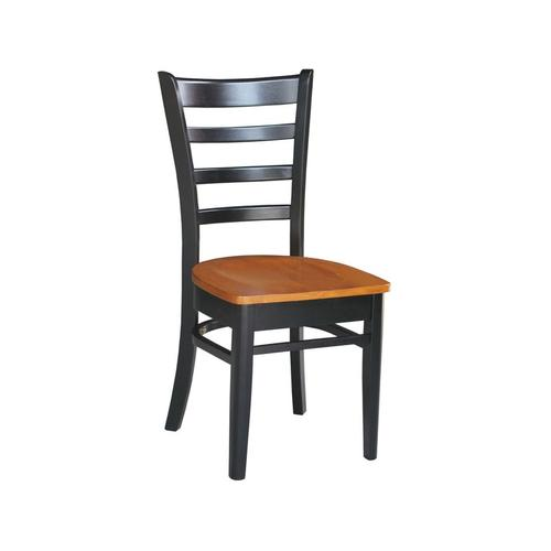 Emily Chair in Black & Cherry