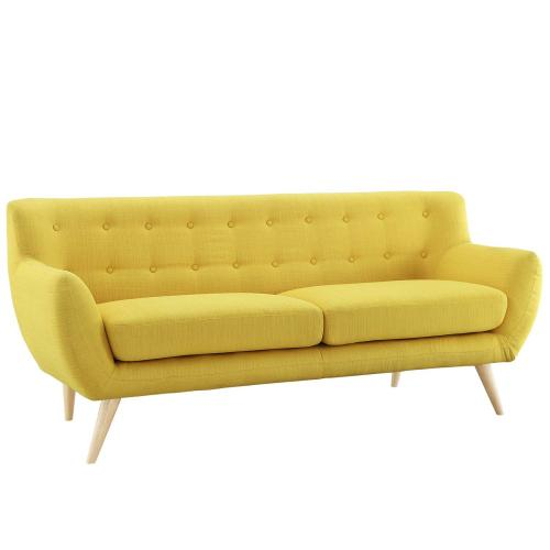 Remark Upholstered Fabric Sofa in Sunny