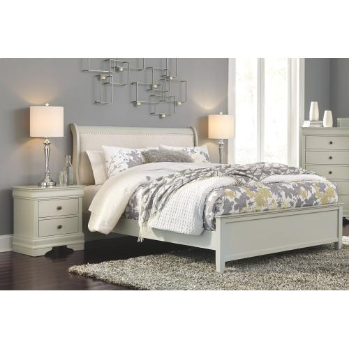 Product Image - Queen Sleigh Bed With 2 Nightstands