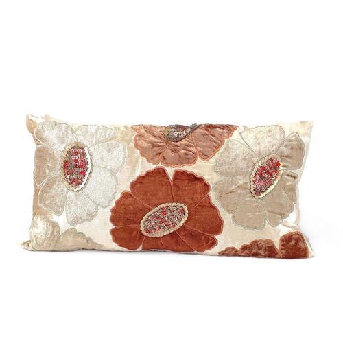 Taupe Velvet Ground Pillow