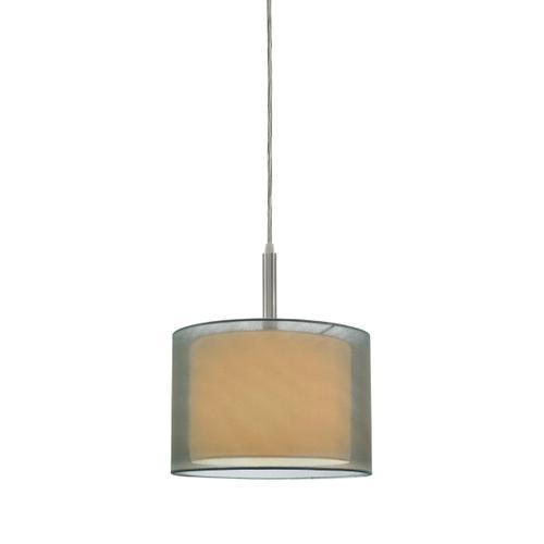 "Sonneman - A Way of Light - Puri Pendant [Size=10"", Color/Finish=Satin Nickel w/Silver Shade]"