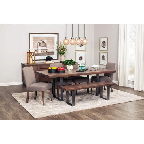 "Ironwood Trestle Table, Ironwood Trestle Table, 38""x72"", Solid Top, Black Base"