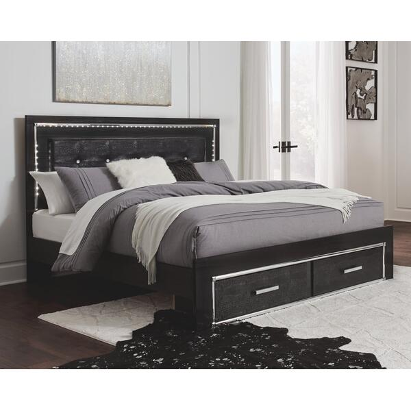 Kaydell King Panel Bed With Storage