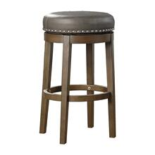 Round Swivel Pub Height Stool, Gray