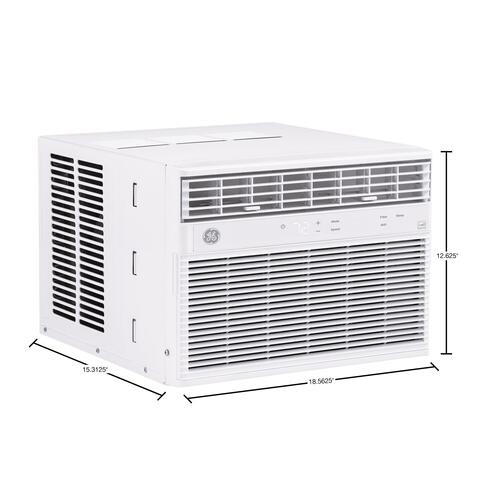 GE® ENERGY STAR® 8,000 BTU Smart Electronic Window Air Conditioner for Medium Rooms up to 350 sq. ft.