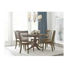 """View Product - 54"""" Round Dining Table With Wood Base"""