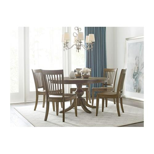 """Gallery - 54"""" Round Dining Table With Wood Base"""