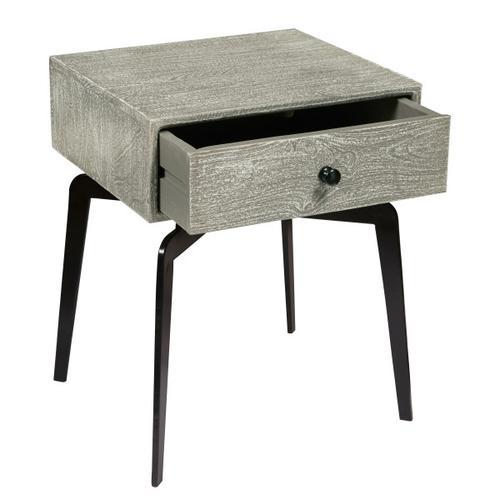 Iron Leg Side Table